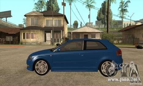 Audi S3 2007 - Stock für GTA San Andreas linke Ansicht