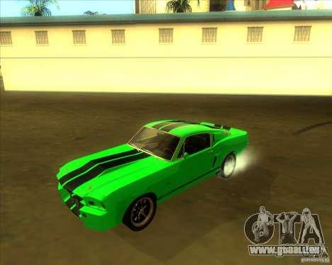 Shelby GT500 Eleanora clone pour GTA San Andreas vue de côté