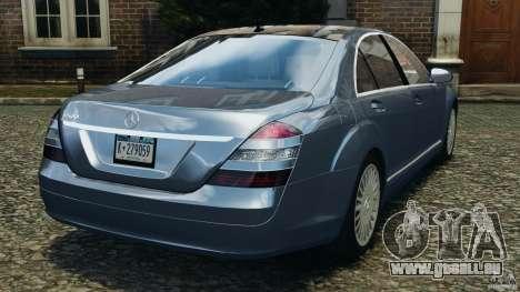 Mercedes-Benz W221 S500 2006 für GTA 4 hinten links Ansicht