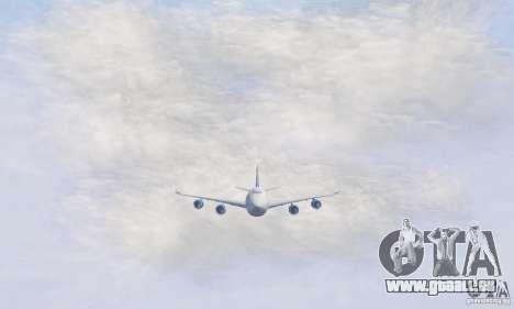 Boeing 747-8F für GTA San Andreas linke Ansicht
