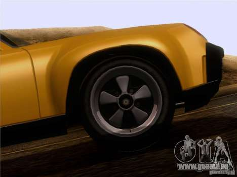 Porsche 914-6 pour GTA San Andreas vue intérieure