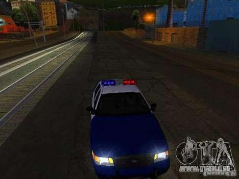 Ford Crown Victoria Belling State Washington für GTA San Andreas obere Ansicht
