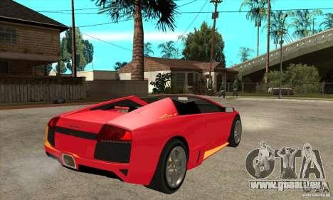 Lamborghini Murcielago LP650 pour GTA San Andreas vue de droite