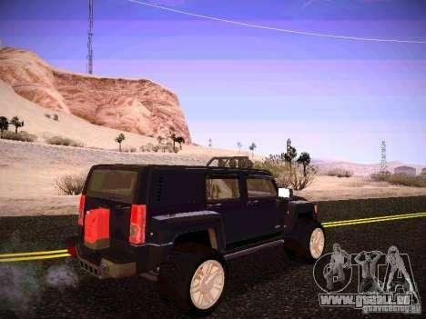 Hummer H3R pour GTA San Andreas vue de droite