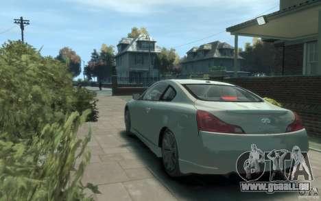 Infiniti G37 S pour GTA 4 Vue arrière de la gauche