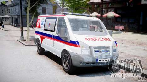 Ford Transit Polish Ambulance [ELS] pour GTA 4 est un droit