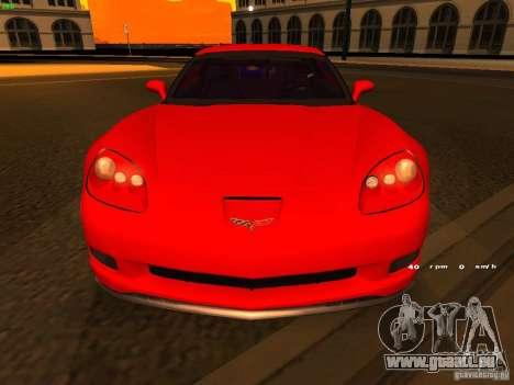 Chevrolet Corvette Z06 für GTA San Andreas obere Ansicht