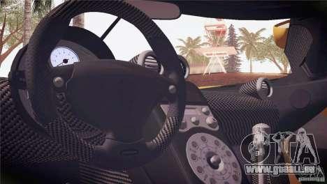 Koenigsegg CCX 2006 v2.0.0 pour GTA San Andreas salon