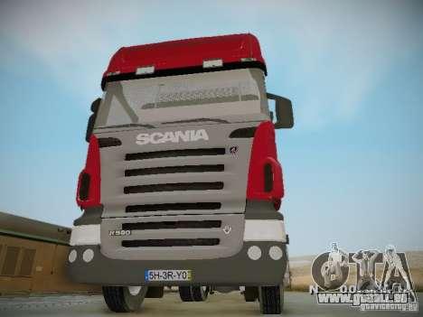 Scania R580 Topline pour GTA San Andreas vue intérieure