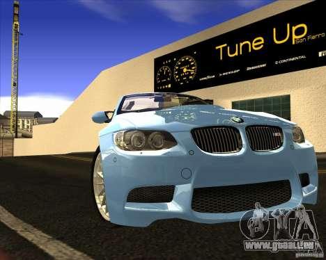 BMW M3 Convertible 2008 pour GTA San Andreas vue intérieure