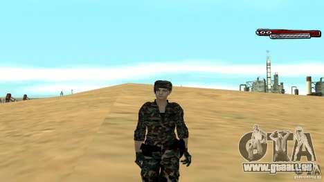 Soldat HD pour GTA San Andreas cinquième écran