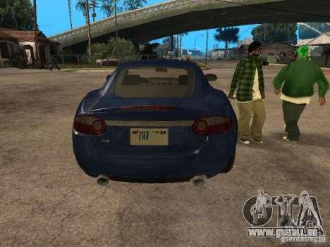 Jaguar XK für GTA San Andreas Rückansicht
