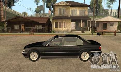 BMW E38 750IL pour GTA San Andreas laissé vue
