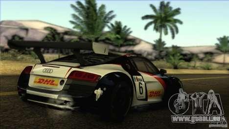 Audi R8 LMS pour GTA San Andreas laissé vue