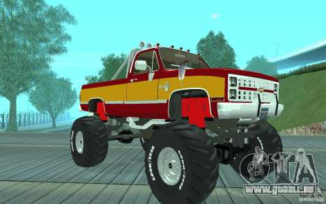 Chevrolet Silverado 2500 MonsterTruck 1986 pour GTA San Andreas
