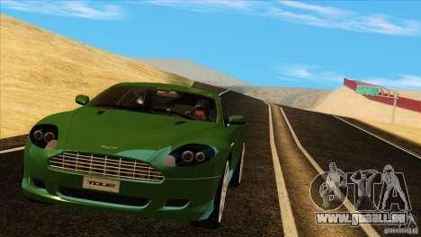 Aston Martin DB9 pour GTA San Andreas vue de côté
