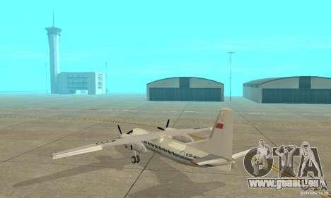Antonow an-24 für GTA San Andreas zurück linke Ansicht