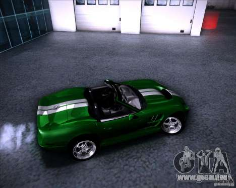 Shelby Series One 1998 für GTA San Andreas obere Ansicht