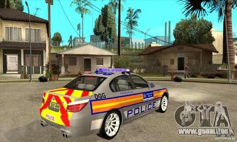 Metropolitan Police BMW 5 Series Saloon für GTA San Andreas rechten Ansicht