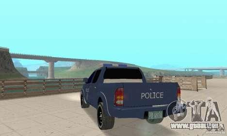 Toyota Hilux Somaliland Police pour GTA San Andreas laissé vue
