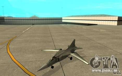 MiG-23 nach unten der Flogger für GTA San Andreas linke Ansicht