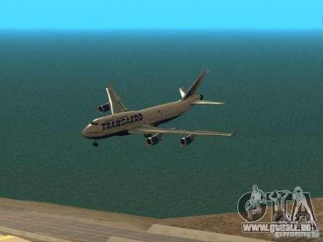 Boeing 747-400 pour GTA San Andreas vue de dessus