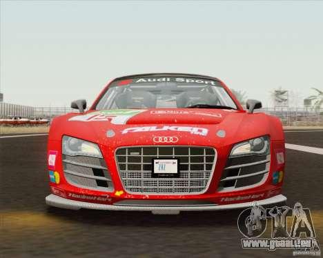 Audi R8 LMS v2.0.1 für GTA San Andreas Innenansicht
