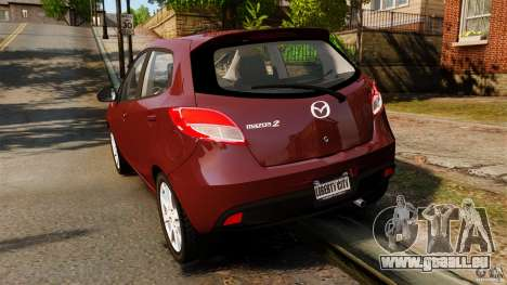 Mazda 2 2011 pour GTA 4 Vue arrière de la gauche