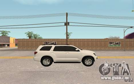 Toyota Sequoia 2011 pour GTA San Andreas vue de droite