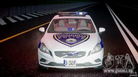 Volvo S60 Macedonian Police [ELS] pour GTA 4 vue de dessus