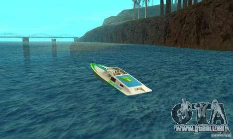 Speed Motorboat pour GTA San Andreas sur la vue arrière gauche