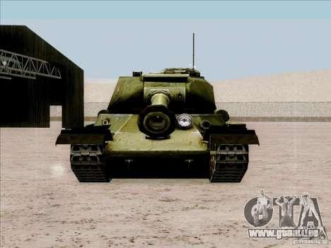 T-34 pour GTA San Andreas vue de droite