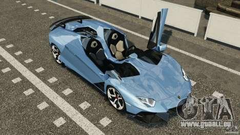 Lamborghini Aventador J 2012 pour GTA 4 vue de dessus