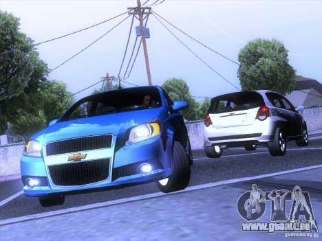 Chevrolet Aveo LT pour GTA San Andreas vue arrière