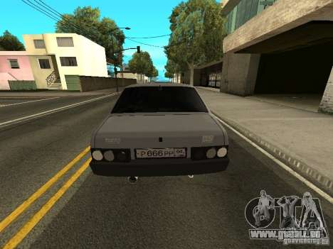 VAZ 21099 Turbo für GTA San Andreas zurück linke Ansicht