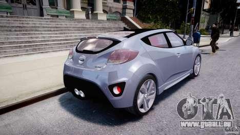 Hyundai Veloster Turbo 2012 pour GTA 4 Vue arrière de la gauche