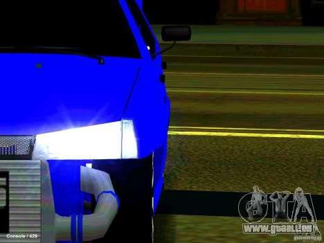 VAZ 21099 Turbo pour GTA San Andreas vue intérieure