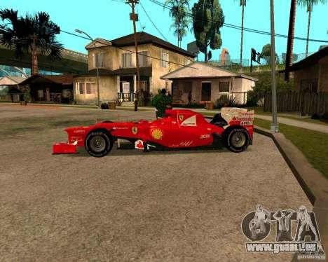 Ferrari Scuderia F2012 für GTA San Andreas linke Ansicht