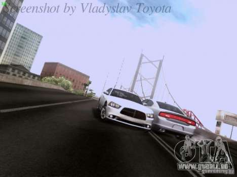 Dodge Charger 2013 pour GTA San Andreas vue de dessous