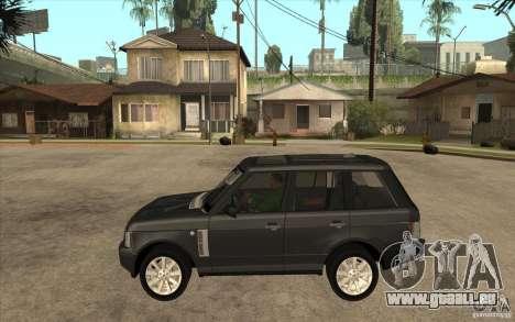 Range Rover Supercharged 2008 pour GTA San Andreas laissé vue