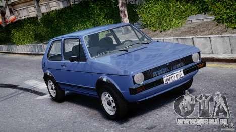 Volkswagen Golf Mk1 für GTA 4 obere Ansicht