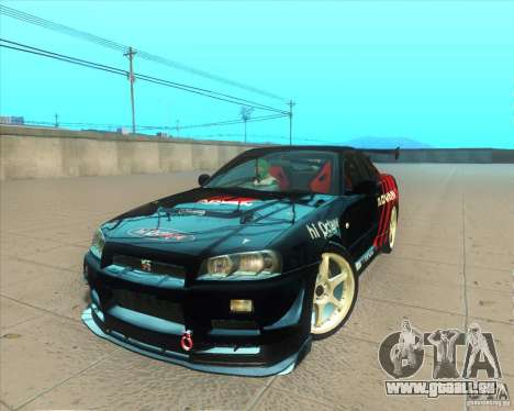 Nissan Skyline GT-R R34 M-Spec Nur pour GTA San Andreas salon
