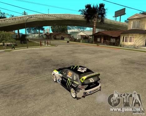 Ken Block Subaru Impreza WRX STi 2009 für GTA San Andreas linke Ansicht