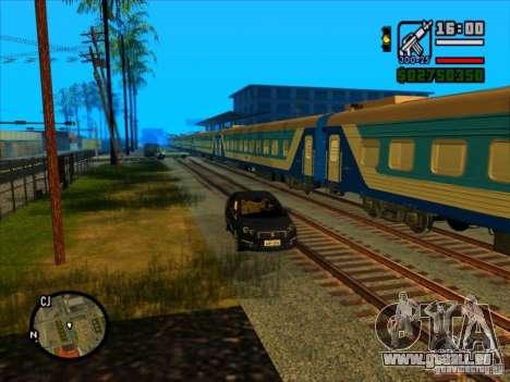 Long train pour GTA San Andreas troisième écran