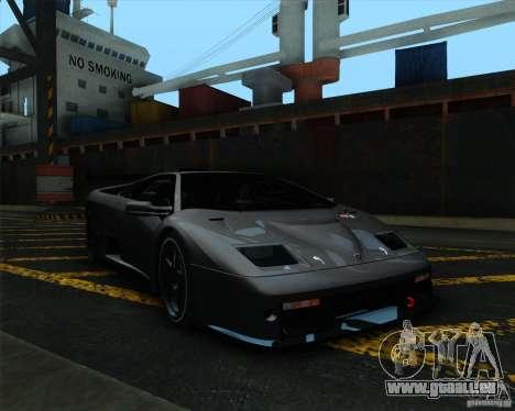 Lamborghini Diablo GTR V1.0 1999 pour GTA San Andreas laissé vue