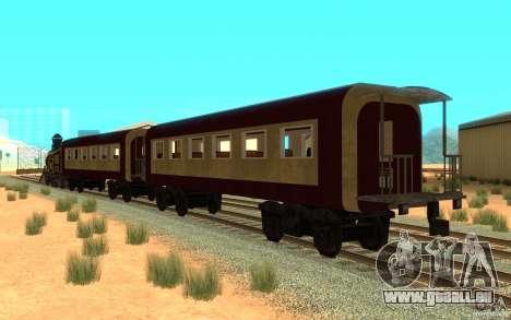 Locomotive pour GTA San Andreas sur la vue arrière gauche