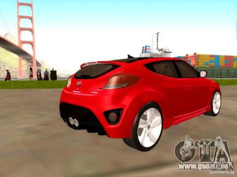 Hyundai Veloster Turbo v1.0 pour GTA San Andreas laissé vue