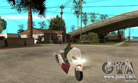 Honda Forza pour GTA San Andreas vue arrière