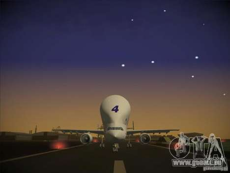 Airbus A300-600ST Beluga für GTA San Andreas Rückansicht