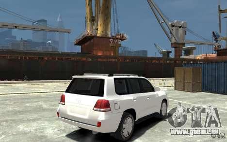 Toyota Land Cruiser 200 pour GTA 4 est un droit